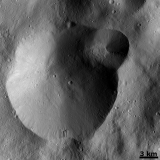 Vesta - Successive formation of impact craters