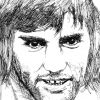Ink portrait of George Best
