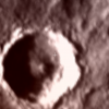 Strange object in martian crater.