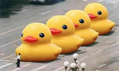 Tiananmen Square Rubber Duck Redux