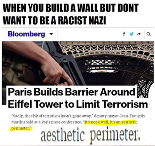 Image result for paris builds wall around eiffel tower