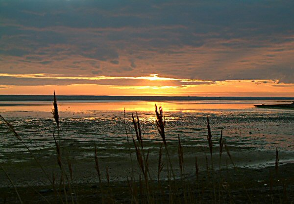 Sunset over Chesil Beach 1