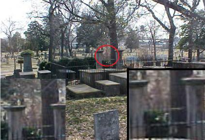 Apparition in  Graveyard