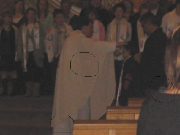 Orbs in Church service
