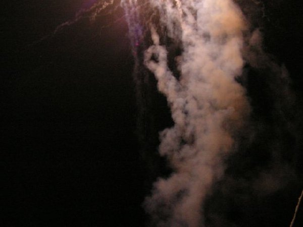 Fireworks smoke from only 5 meters!
