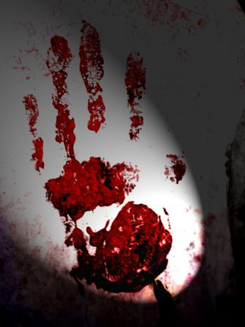 A Blood Stained Hand