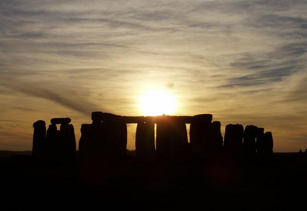 Sunset over Stonehenge