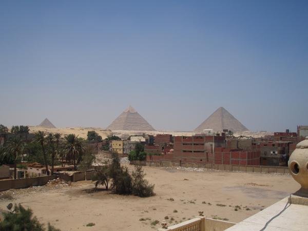 Giza's pyramids from Cairo