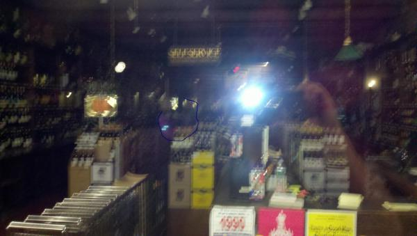 Ghost face of my boss who shot and killed himself taken inside the store he owned