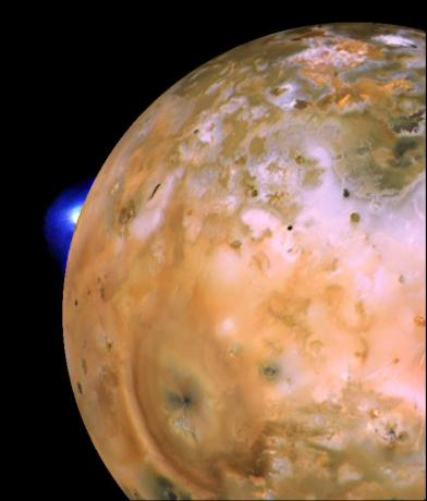Io with Loki Plume on Bright Limb