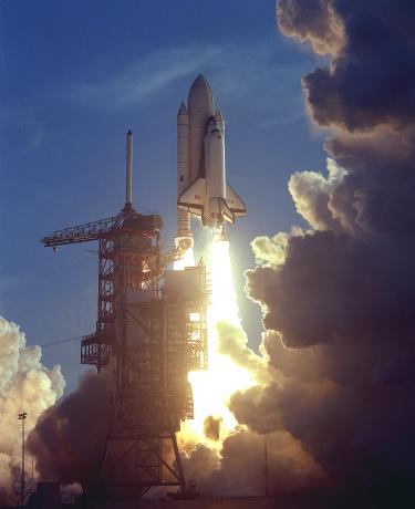 STS-1 Launches