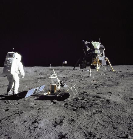 Aldrin Gazes at Tranquility Base