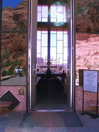 Orbs at the Chapel of the Holy Cross in Sedona Arizona