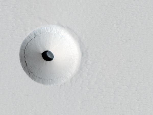 Mars Reconnaissance Orbiter - Caves and Craters