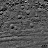 Vesta - Craters in Various States of Degradation