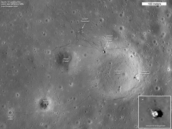LRO: Latest Images of Apollo Landing Sites - Apollo 12