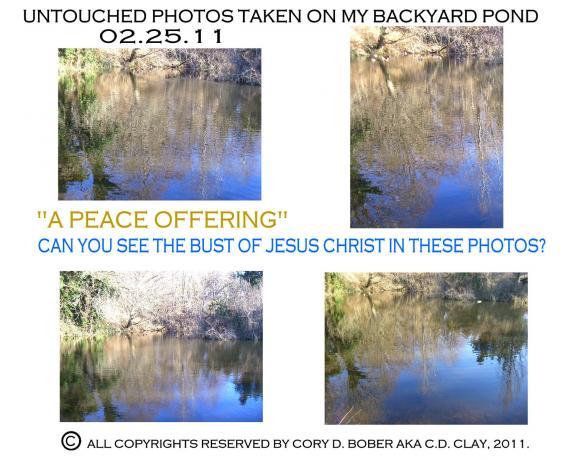 A PEACE OFFERING (APPARITION OF JESUS CHRIST ON MY POND)