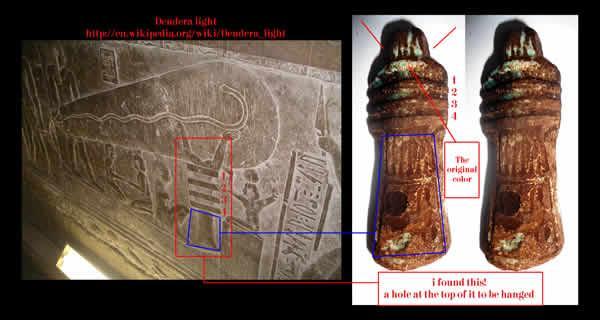Dendera light shaped Pendant