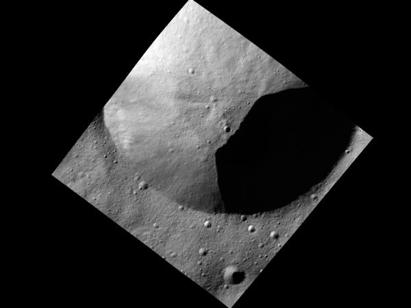 Crater in Shadow on Vesta