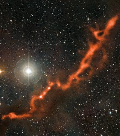 APEX image of a star-forming filament in Taurus