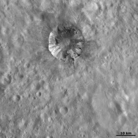 Vesta - Cornelia crater