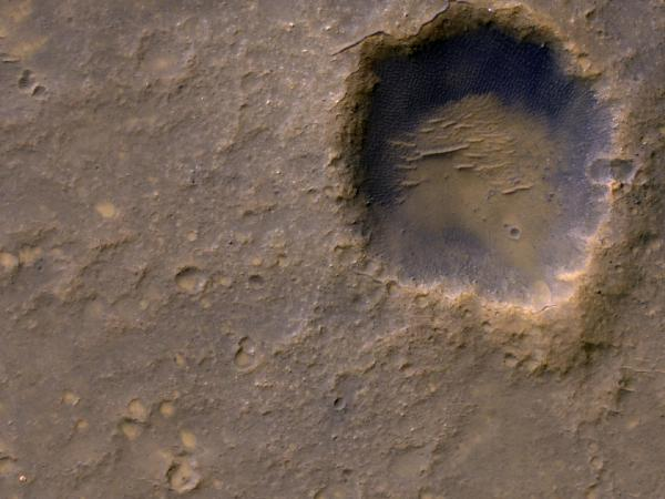 Spirit Lander and Bonneville Crater in Color