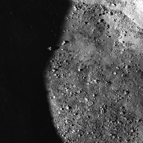 Lunar Reconnaissance Orbiter - Sunset Boulder