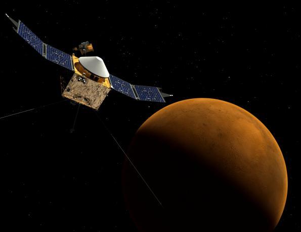 MAVEN at Mars, Artist's Concept