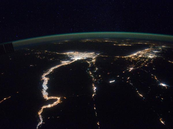 International Space Station - Mediterranean Sea