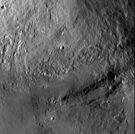 Vesta - Wall and Terrace at Marcia Crater