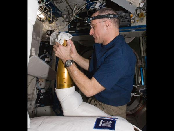 International Space Station - Astronaut Don Pettit Upgrades Robonaut