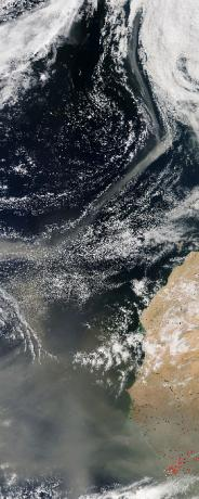 Saharan dust over the Atlantic Ocean