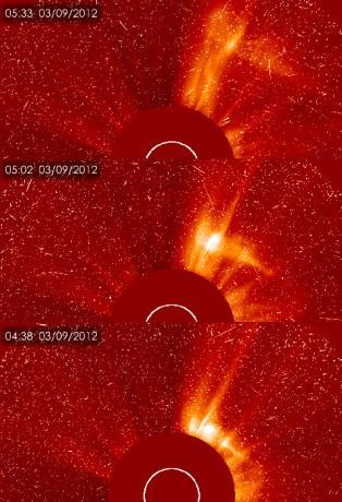 Sunspot 1429 - SOHO images