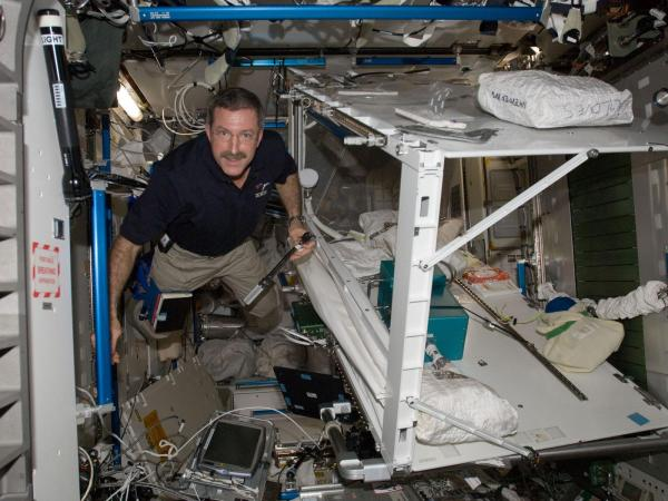 International Space Station - Commander Burbank Performs Repairs