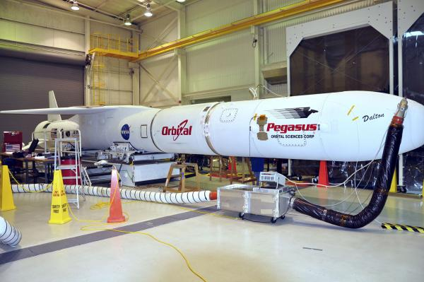Pegasus prepared for NuSTAR launch