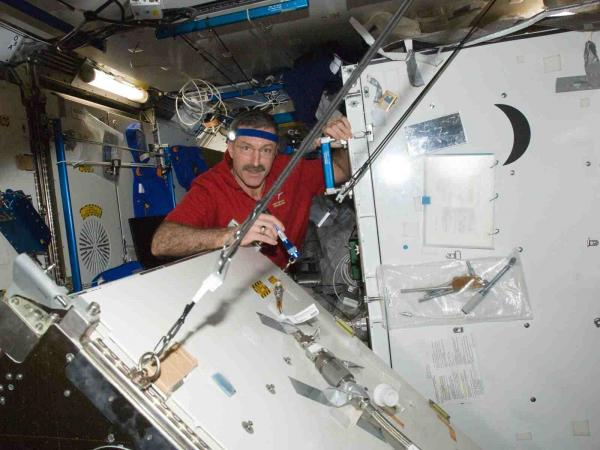 International Space Station - Commander Burban Repairs Water Recovery System