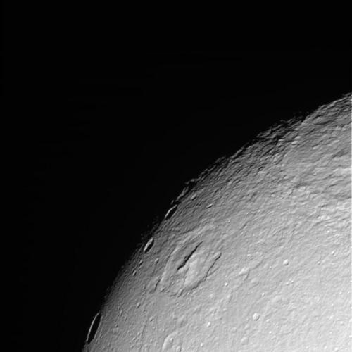 Cassini - Icy Dione (Raw image)