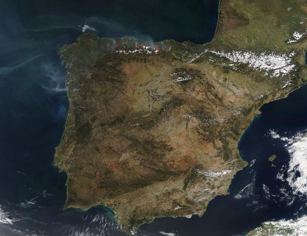Fires on the Iberian Peninsula