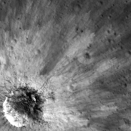 Lunar Reconnaissance Orbiter - Ejecta Starburst
