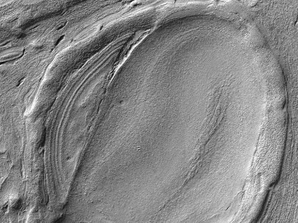 Mars Reconnaissance Orbiter - Lava Lamp Terrain on the Floor of Hellas Basin