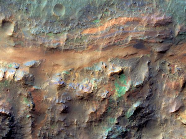 Mars Reconnaissance Orbiter - Sedimentary Deposits on the Floor of Ritchey Crater