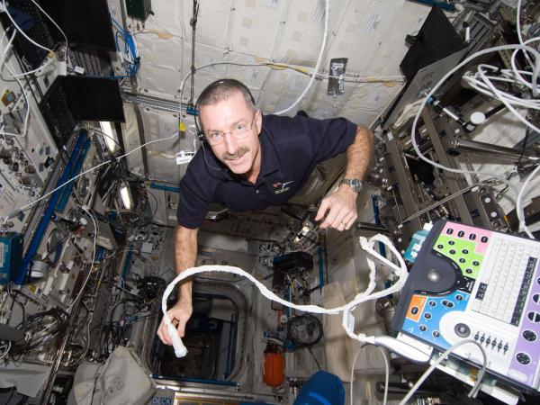 International Space Station - Commander Burbank With Integrated Cardiovascular Hardware