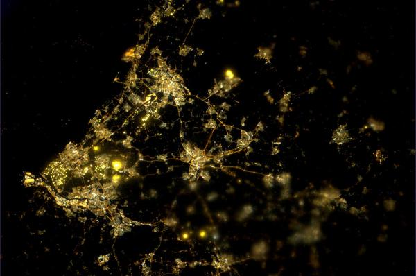Tracking cities at night from the Space Station - The Netherlands