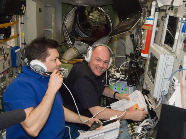 International Space Station - Crew Monitors ATV-3 Docking