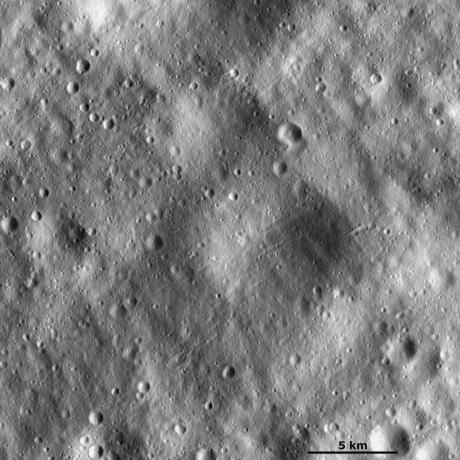 Vesta - Large subdued and small fresh craters
