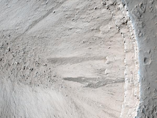 Mars Reconnaissance Orbiter - A Volcanic Pit Chain and Dust Avalanches