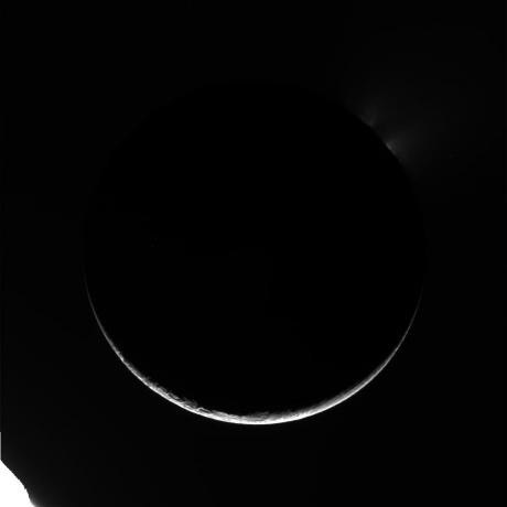 Cassini - Arc of Enceladus (Raw Image)