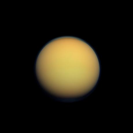 Cassini - Hazy Orange Orb