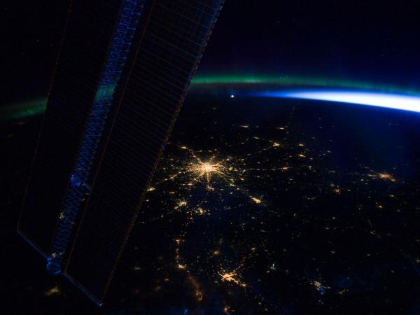 Space Station Over Moscow