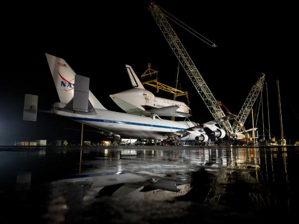 Discovery's Last Voyage - Space Shuttle Discovery Readied for Demate
